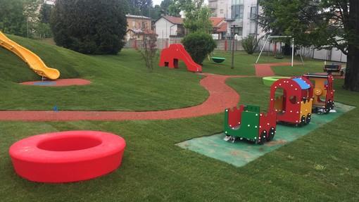 Alba, giochi per tutti nella rinnovata area verde di corso Langhe