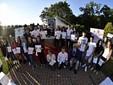 Il gruppo degli studenti premiati con le borse di studio (foto Paolo Destefanis)