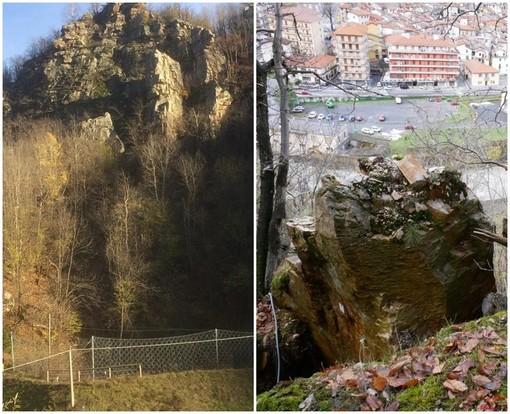 Rocche delle Vallette pericolanti a Ormea: lunedì al via le operazioni di disgaggio