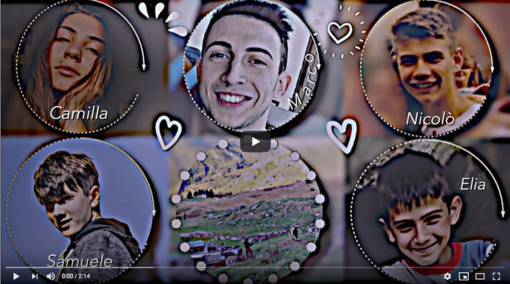 Un video su Youtube per dire addio a Camilla, Marco, Nicolò, Elia e Samuele, i cinque angeli di Castelmagno