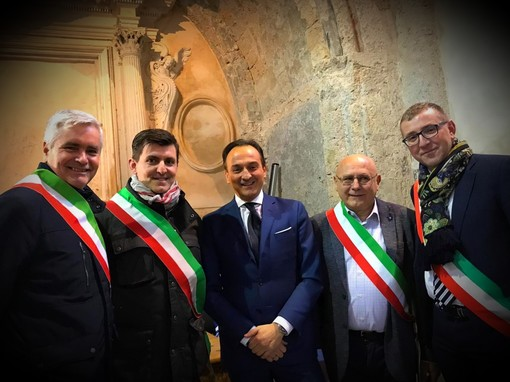 Da sinistra Viale, Saroglia, Cirio, Ollivier e Paoletti