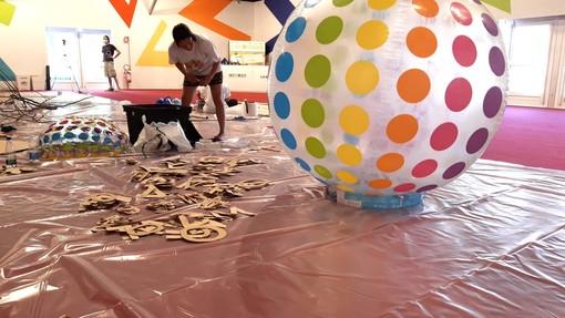 Artisti al lavoro al Pala Alba Capitale