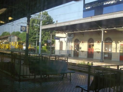 La stazione ferroviaria di Cavallermaggiore (archivio)