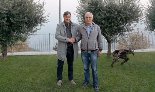 Il sindaco santostefanese Luigi Genesio Icardi e il collega di Camo Mario Saffirio, ora pro sindaco