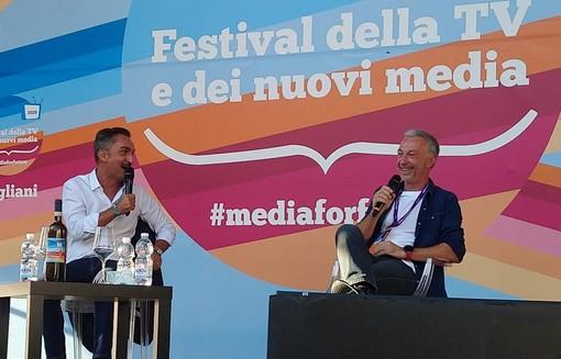 Linus e Nicola Savino al Festival della Tv di Dogliani