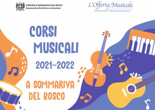 """Al via i corsi con il progetto l'""""Offerta musciale"""" di Sommariva Bosco"""