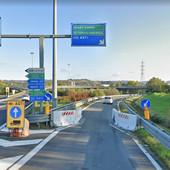 Lo svincolo di immissione in tangenziale per i mezzi in arrivo da Bra e diretti ad Asti