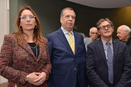 Ivano Martinetti (a destra) e Giorgio Degiorgis, qui con l'europarlamentare Tiziana Beghin