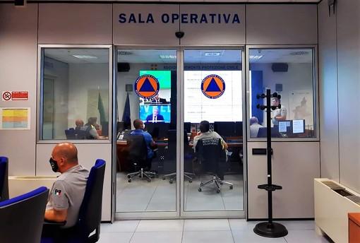 La sala operativa regionale di Protezione civile