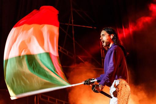 Jared Leto dei Thirty Seconds to Mars - foto di Riccardo Medana