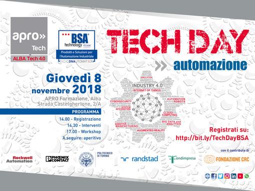 8 Novembre 2018 - TECH DAY: ad Alba l'Hub tecnologico per l'automazione