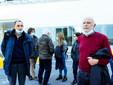 Medici volontari all'ingresso del covid hospital (Ph Barbara Guazzone)