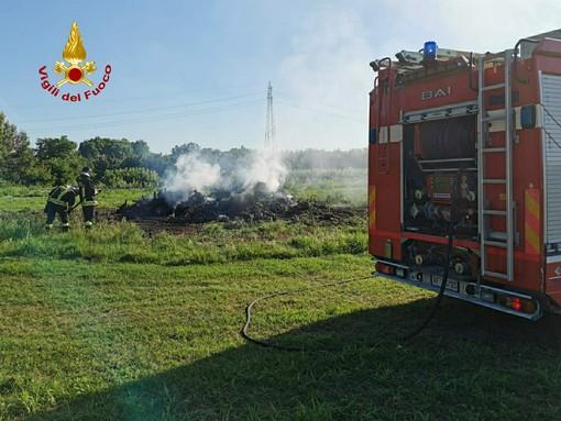 Castagnito, principio d'incendio causa problemi alla circolazione stradale