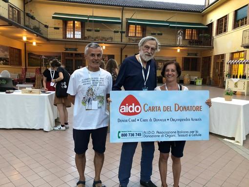 Tantissime nuove adesioni per l'AIDO provinciale nei giorni del Festival Collisioni