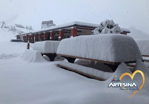 Oltre 50 cm di neve fresca ad Artesina: si preannuncia un weekend speciale