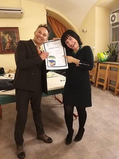 Walter Blengini e Giovanna Orlando alla presentazione delle attività 2020 dell'Albedo