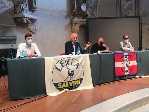 """Ops di Intesa San Paolo su UBI Banca, la Lega in conferenza: """"Troppo silenzio da parte della Fondazione CRC. Decisione che va condivisa con territorio e istituzioni"""" (VIDEO)"""