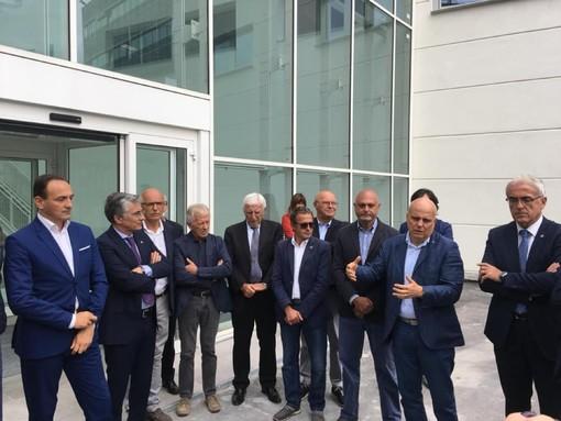 L'ex sindaco alla consegna del cantiere del nuovo ospedale
