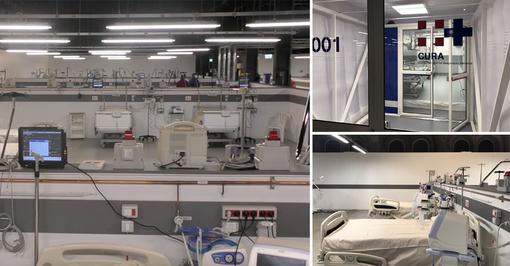 """A Torino apre l'ospedale Ogr: """"Realizzato in tempo record, ospiterà i positivi al Coronavirus [FOTO e VIDEO]"""