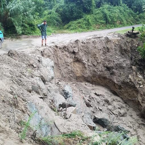 Particolari dei danni provocati nelle copiose piogge di agosto