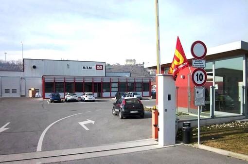 L'ingresso della Mtm, in regione Moglia a Cherasco (archivio)