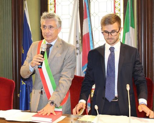 Il sindaco Carlo Bo e il consigliere Alberto Gatto in un'immagine d'archivio