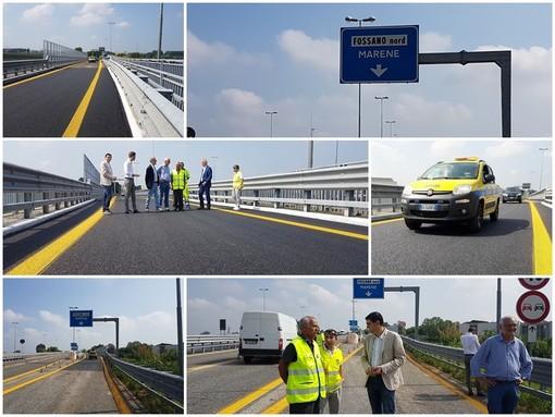 Tangenziale di Fossano: riaperto al traffico lo svincolo per Marene, a oltre due anni dal crollo del viadotto (FOTO E VIDEO)