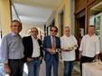 Da sinistra Ettore Secco, Andrea Rossano, Beppe Sacchero ed Enrico Faccenda
