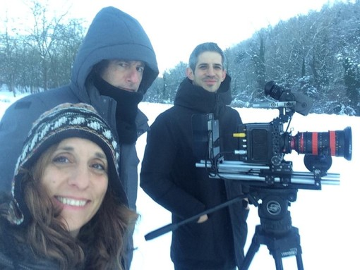 Il produttrice esecutivo Letizia Guglielmini insieme ai registi Michael Dweck e Gregory Kershaw