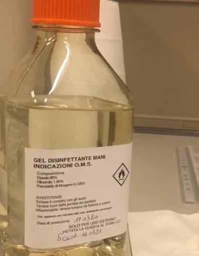 Sanità: prodotte nei laboratori Arpa Piemonte otto tonnellate di gel igienizzante per forze dell'ordine e personale sanitario