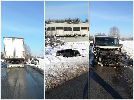 Scontro tra due auto e un furgone a Piozzo sulla Fondovalle Tanaro, nessun ferito grave