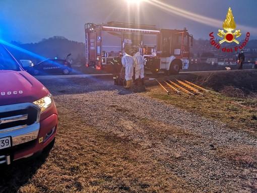 Uomo caduto in un canale a Piobesi d'Alba: intervento di vigili del fuoco e 118