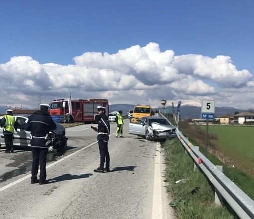Gravissimo incidente a Centallo: soccorsi sul posto, chiusa la provinciale 318