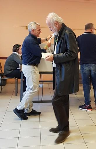 Sandro Lazier, candidato a sindaco a Piobesi d'Alba ha votato