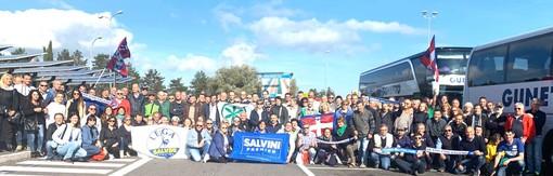 Più di 240 presenze cuneesi alla manifestazione indetta da Matteo Salvini a Roma