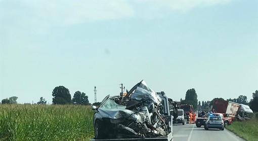 Incidente sulla SP20, all'altezza dell'aeroporto di Levaldigi: deceduto un 47enne