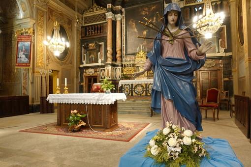 Bra: l'Addolorata esposta ai Battuti Neri per la memoria liturgica del 15 settembre