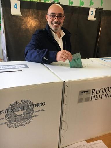Michele Sandri in corsa per le regionali ha votato