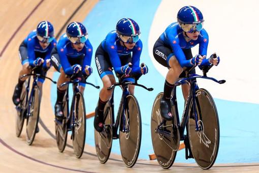 Matilde Vitillo (Racconigi Cycling Team) è campionessa del mondo di inseguimento a squadre per... 7 millesimi