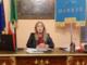 La sindaca Barbero in uno dei video di aggiornamento sui casi positivi al Covid