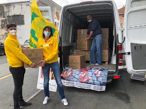 Coldiretti dona 3mila chili di solidarietà alle famiglie bisognose del Cuneese