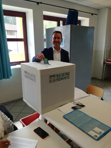 Roberto Russo, candidato alle regionali ha votato