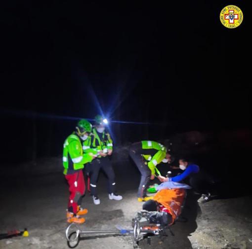 Ciaspolatore dà segni di sfinimento e i compagni di gita chiamano aiuto: intervento del Soccorso Alpino in Bisalta