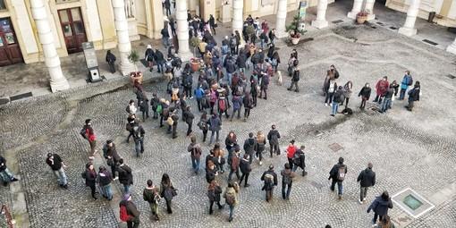 Gli scontri in università, a Torino