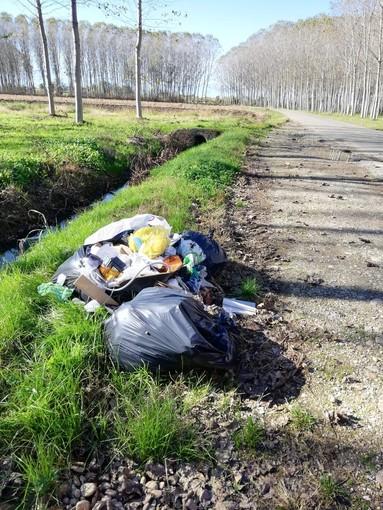 Aveva abbandonato dei rifiuti lungo strada Falchetto a Bra: segnalato da alcuni residenti, è stato multato