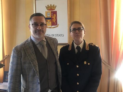 Il questore Emanuele Ricifari con la dottoressa Stefania Pierazzi