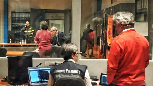 L'unità di crisi dell'emeregnza Covid in Piemonte, presso la sede della Protezione Civile