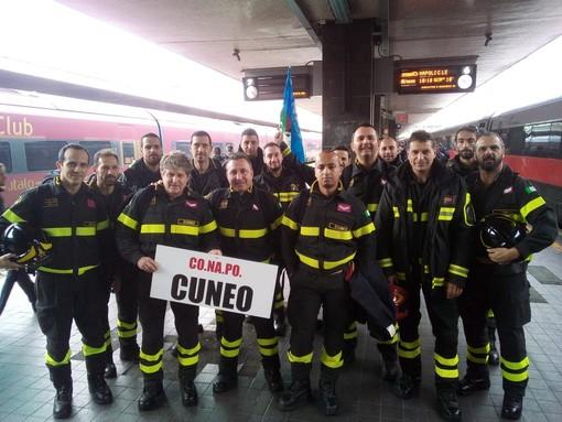 """""""Basta trattarci come un corpo di serie B"""": vigili del fuoco di Cuneo in protesta a Roma per chiedere dignità retributiva e pensionistica"""
